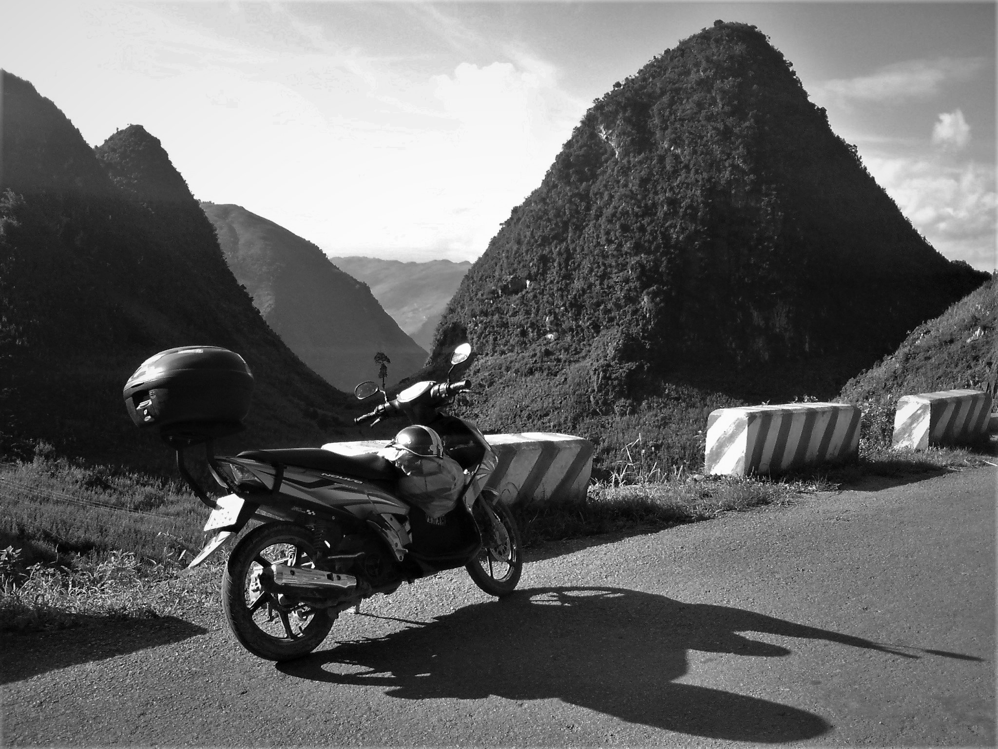 Another road, another limestone pillar on the Karst Plateau, Ha Giang Extreme North Loop
