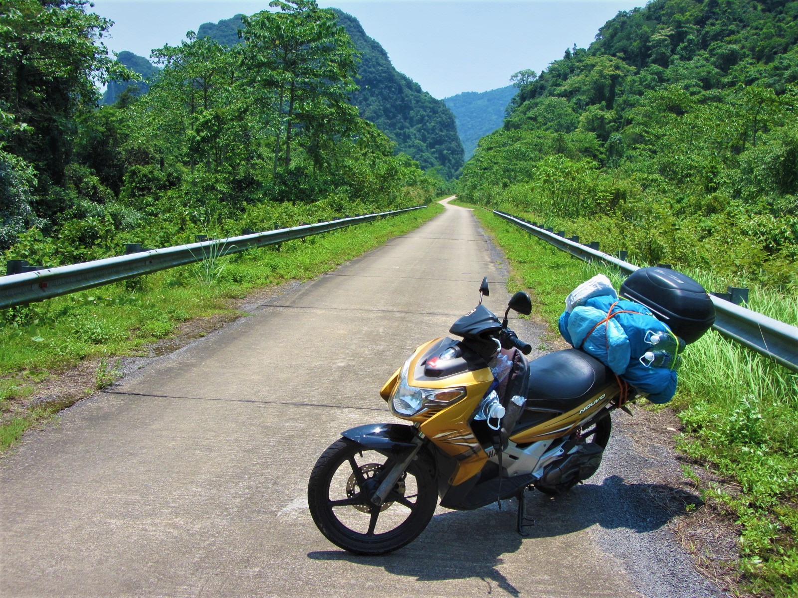 No one else around on the Ho Chi Minh West is Best Loop, Central Vietnam