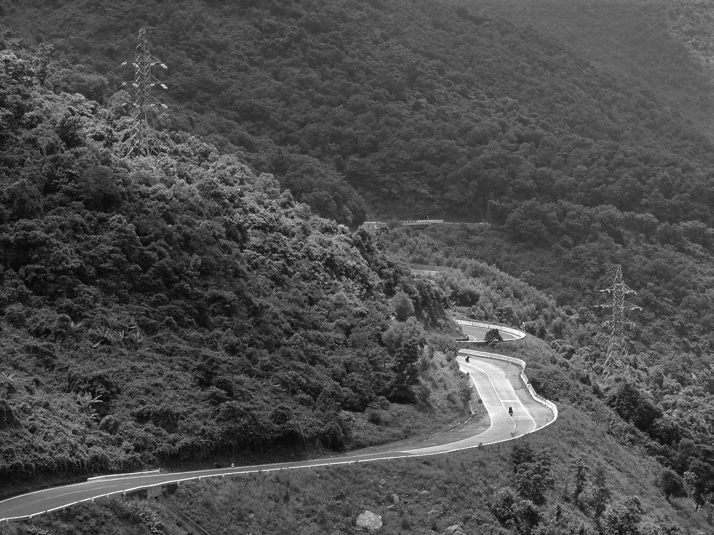 skirting the forests & mountains on the Hai Van Pass, Central Vietnam