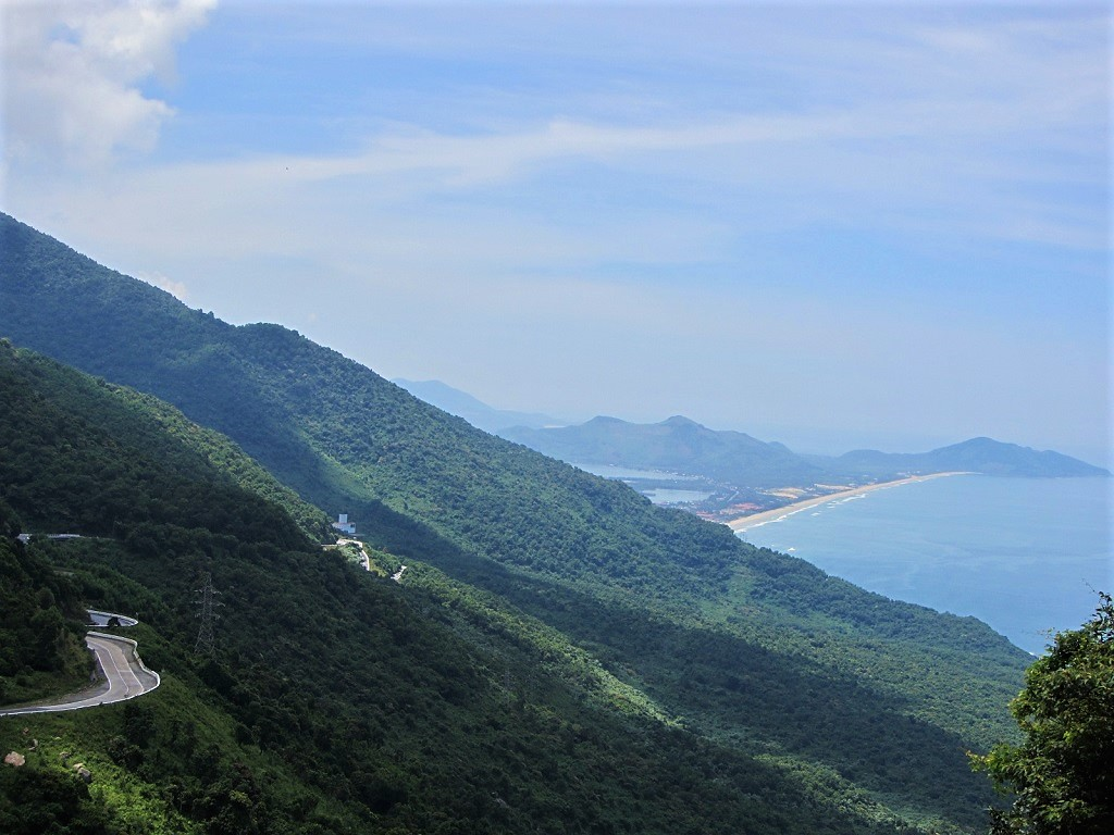 View from the top of the famous Hai Van Pass, Central Vietnam