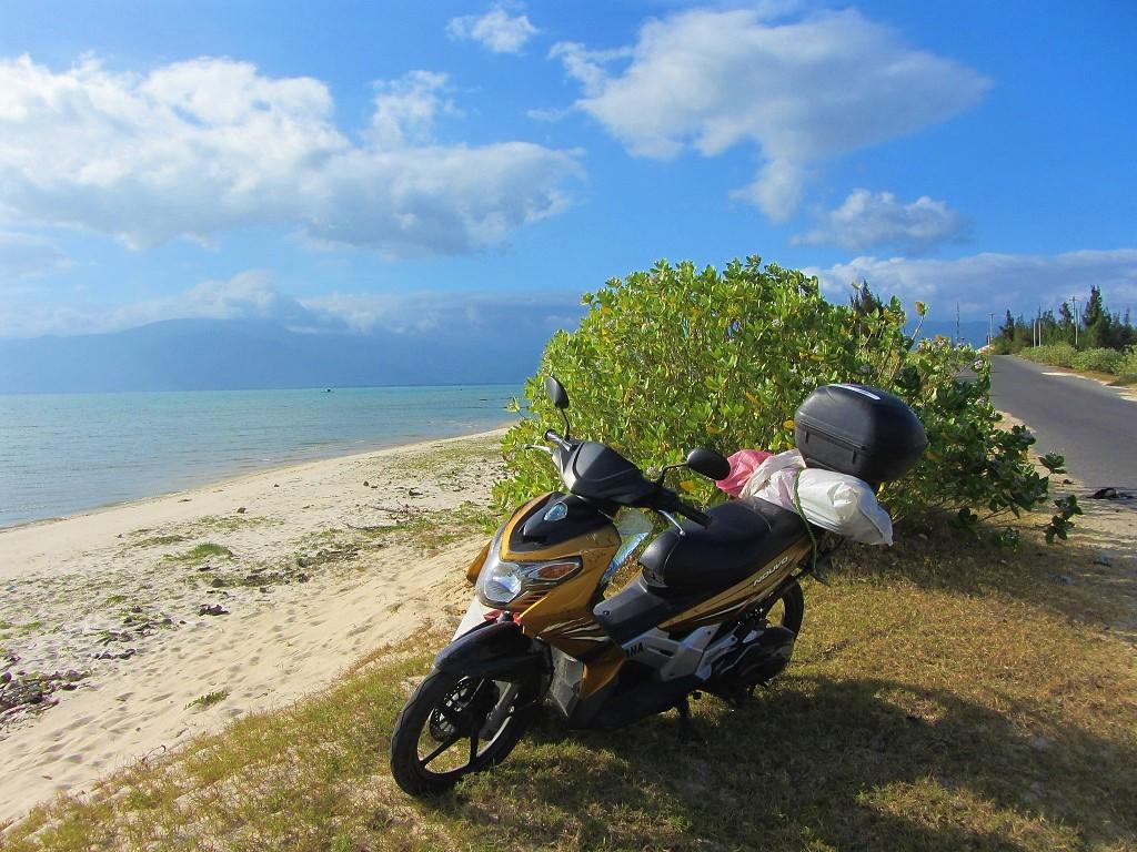 Stopping for a swim on Hon Gom Sandbar, south-central coast