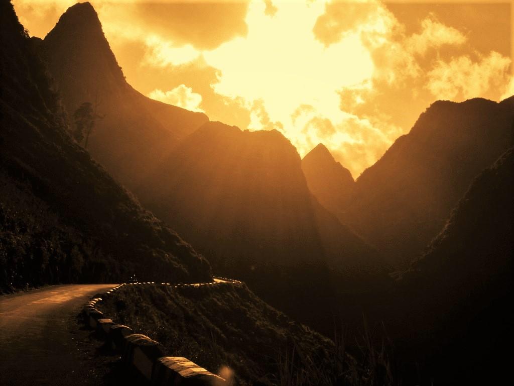 The famous Ma Pi Leng Pass at dusk, Ha Giang, northern Vietnam