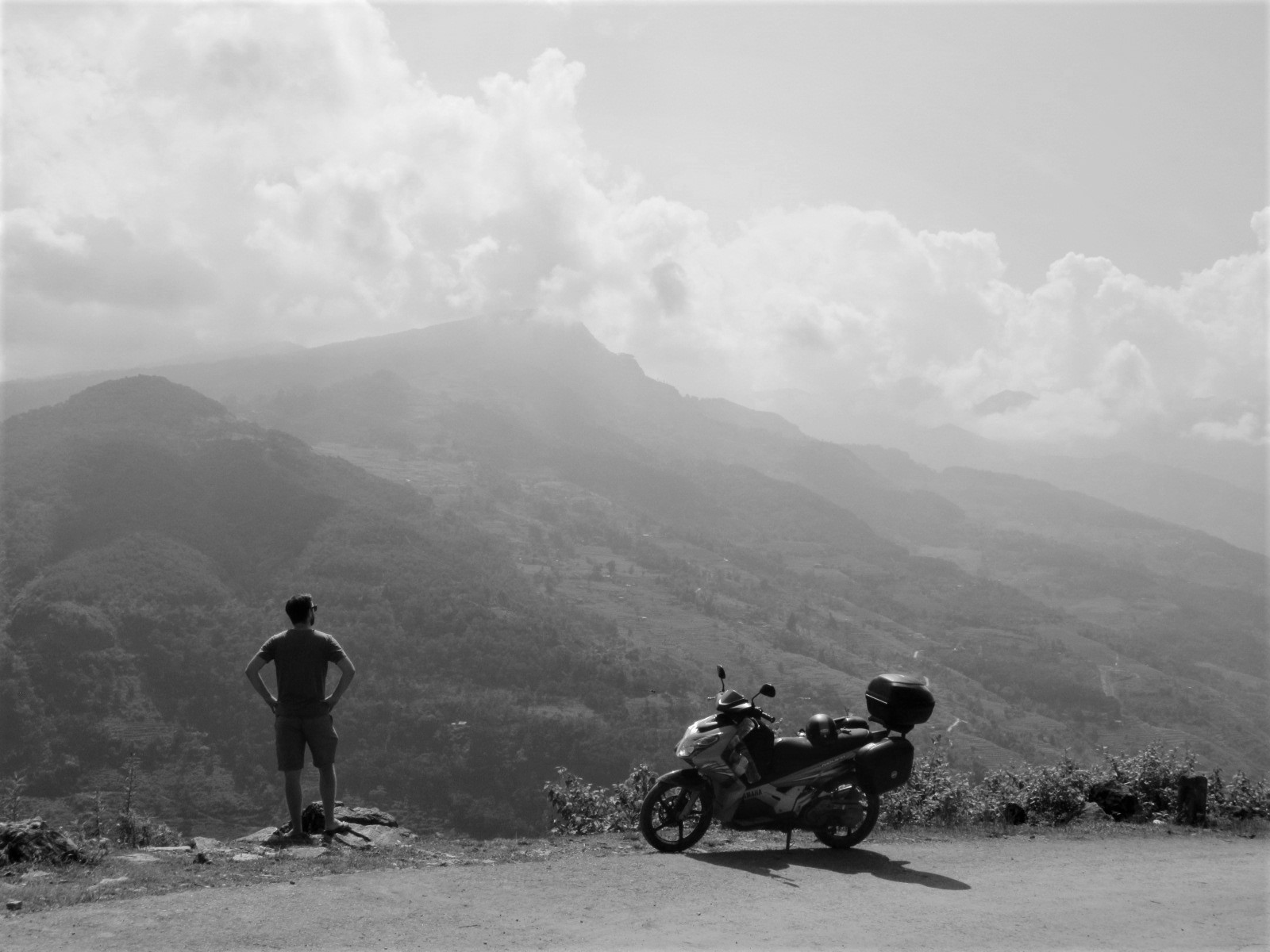Gazing across the valley outside Xin Man on the Borders & Back-Roads Loop, northern Vietnam
