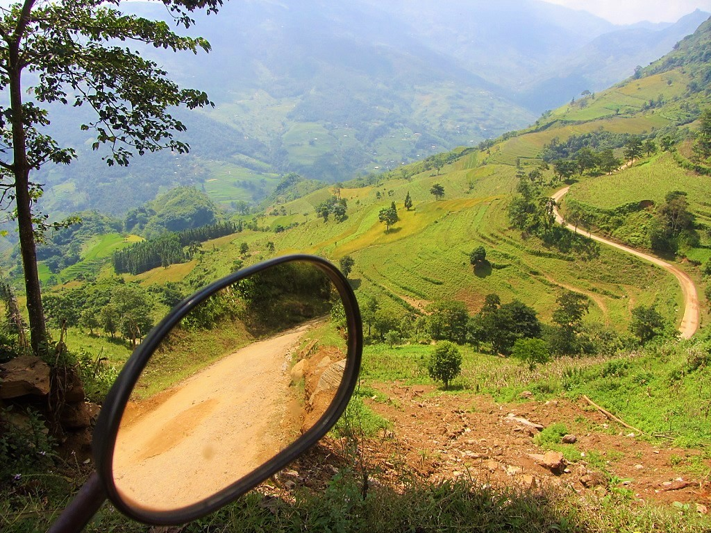 Climbing on mountain roads in Ha Giang on the Borders & Back-Roads Loop, northern Vietnam