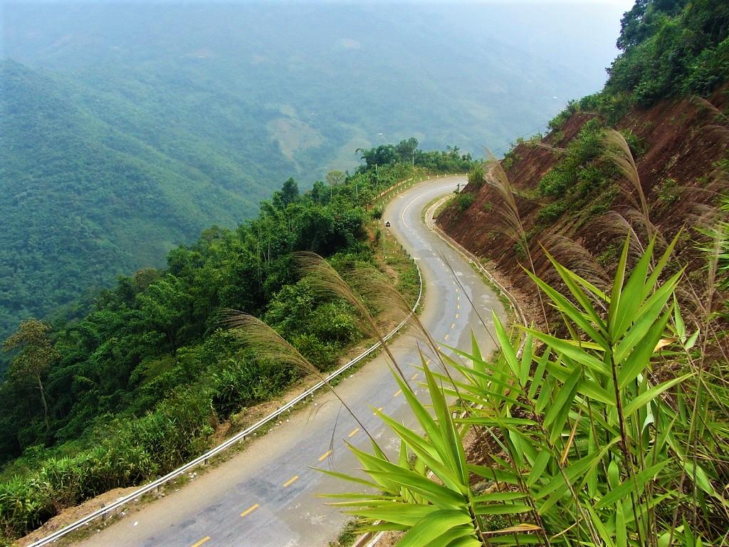 Great riding roads near the Lao border on the Limestone Loop, northwest Vietnam