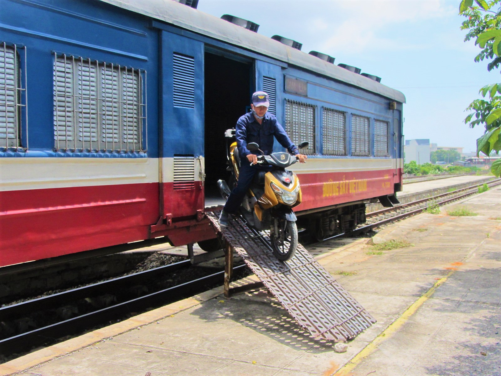 Riding off the train from Saigon to Phan Thiet, south-central coast